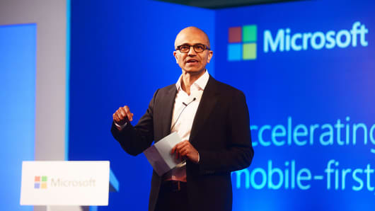 Microsoft Chief Executive Officer Satya Nadella