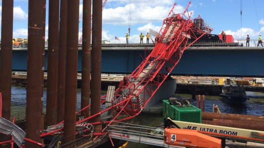 Tappan Zee Bridge crane collapse