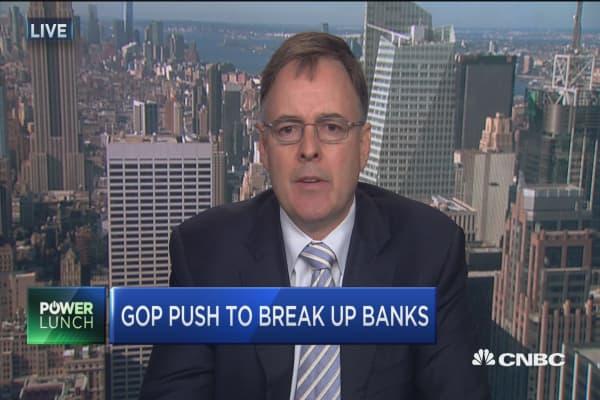 Break up big banks?
