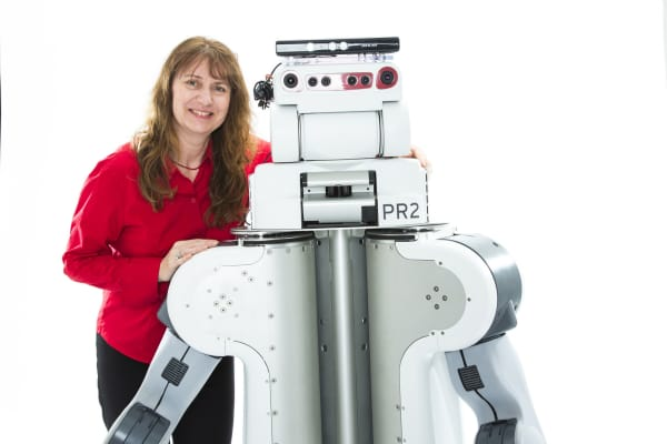 Maja Mataric has been working on socially assistive robots for more than a decade.