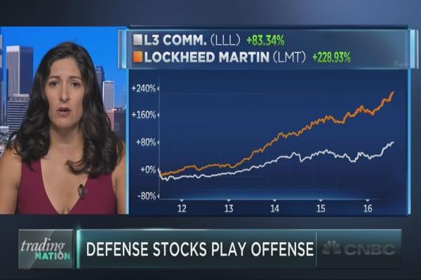Defense stocks play offense