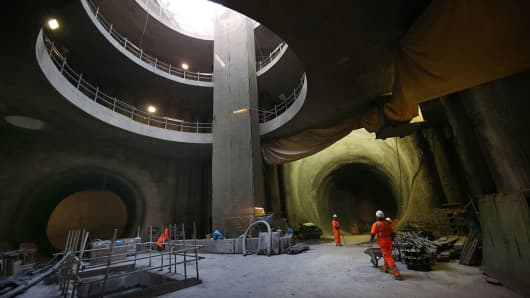 Crossrail in London is Europe's biggest infrastructure project.