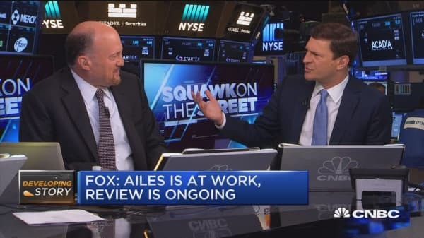 Fox may be in trouble if Ailes exits, Cramer says