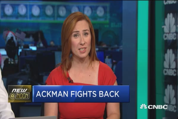 Ackman fights back