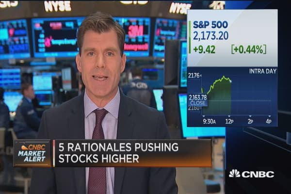 5 rationales pushing stocks higher