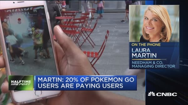 Martin: 20% of Pokemon Go users are paying users