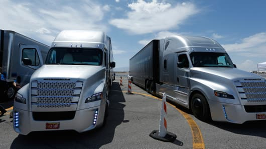 Self-driving trucks, predominantly in operation overseas, are currently being tested on highways in the United States.