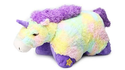 This $2 Light-Up Jumbo Sparkling Unicorn Glow Pet is Hollar's best-selling item.