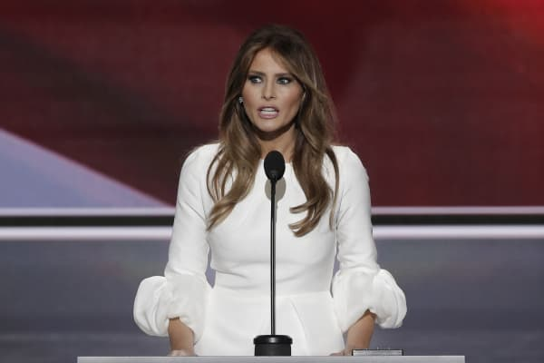 Melania Trump speaks during the Republican National Convention on July 19, 2016