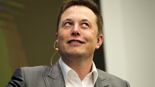 Elon Musk, Chairman of SolarCity and CEO of Tesla Motors, speaks at SolarCity's Inside Energy Summit