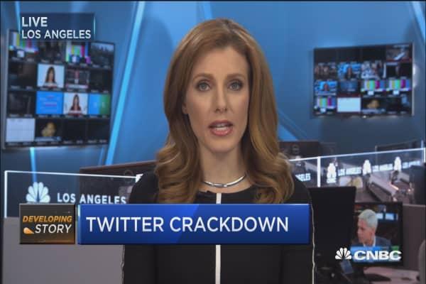 Twitter crackdown