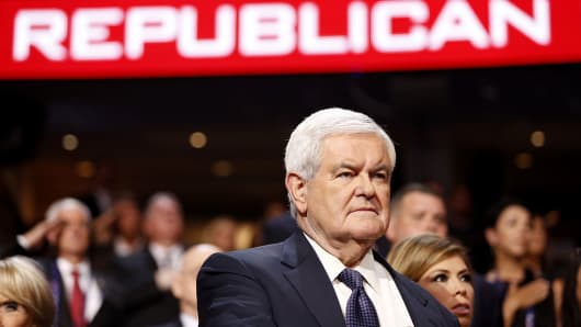 Newt Gingrich, former speaker of the U.S. House of Representatives