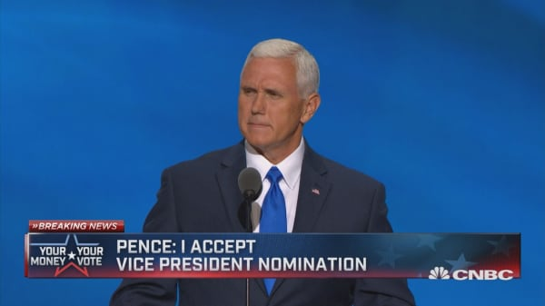 Pence: I accept vice president nomination
