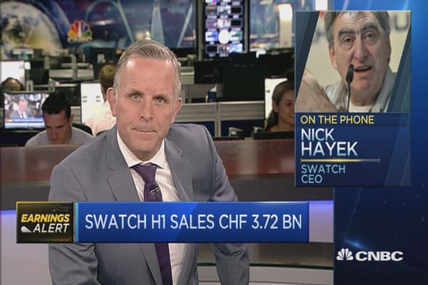 Mainland China and Russia are growing: Swatch CEO