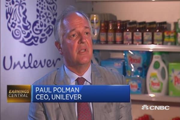 The markets show sluggish growth: Unilever CEO