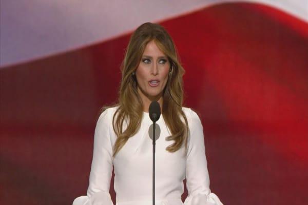 Rickrolling is back after Melania Trump speech