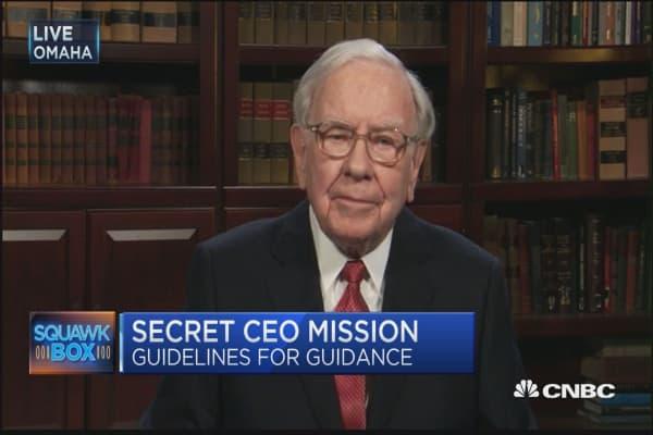 Buffett: Guidance could lead to malpractice