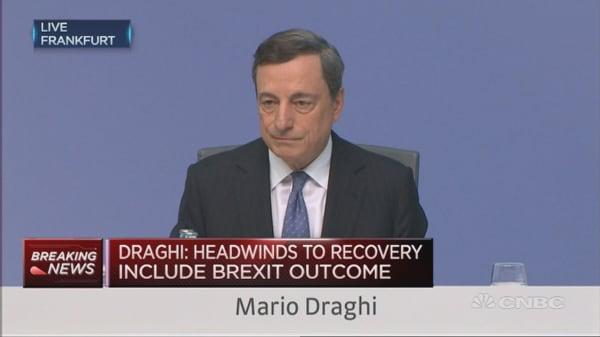 Draghi speaks on Troika, Turkey Unrest