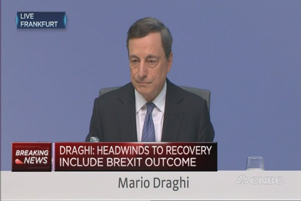 Draghi speaks on Troika, Turkey Unrest