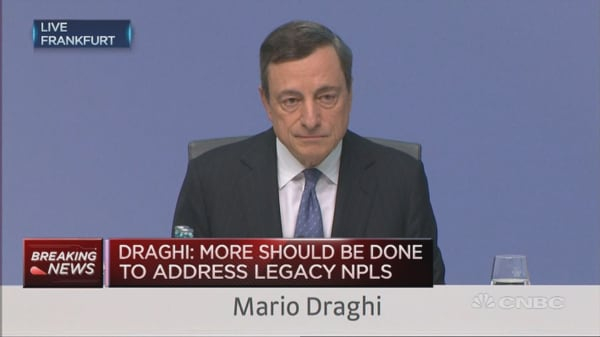 European banks do have profitability issues: Draghi