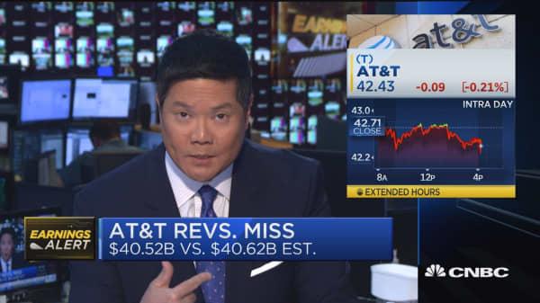 AT&T revenues miss