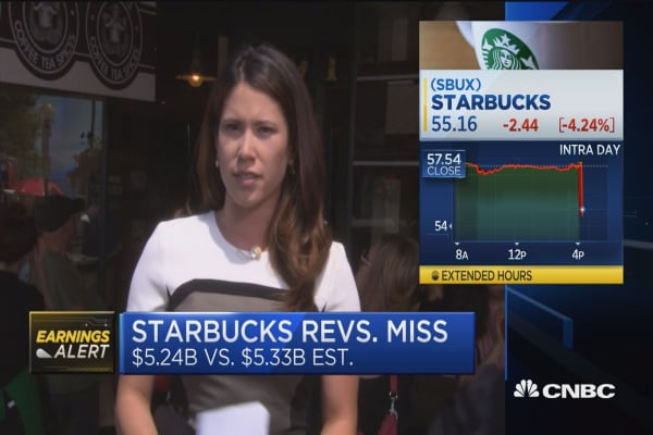 Starbucks misses on revenue