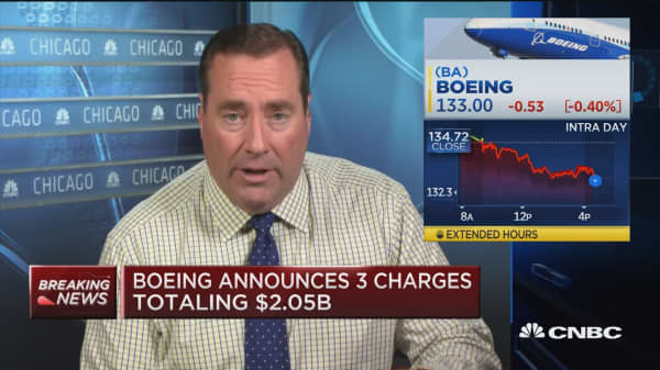 Boeing announces 3 charges totaling $2.05B