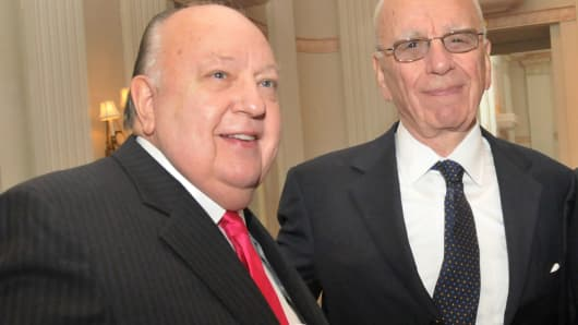 Roger Ailes and Rupert Murdoch in October, 2010.