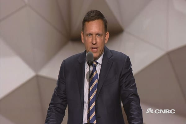Peter Thiel: Proud to be gay, Republican