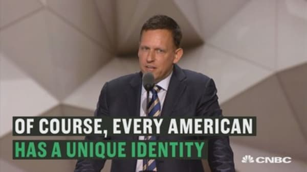 Peter Thiel tells the RNC he is proud to be gay at the RNC convention.