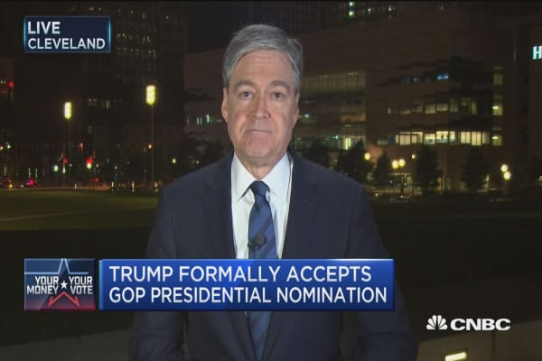 Trump accepts GOP nom