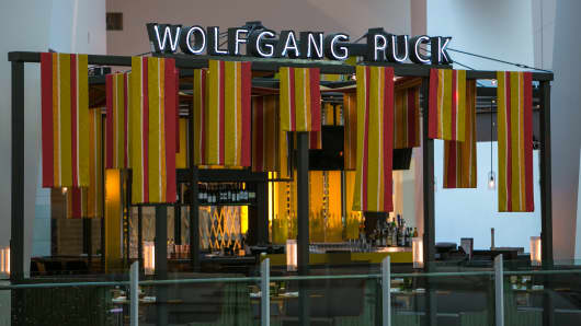 A Wolfgang Puck restaurant in the Crystals, a luxury shopping mall in Las Vegas.