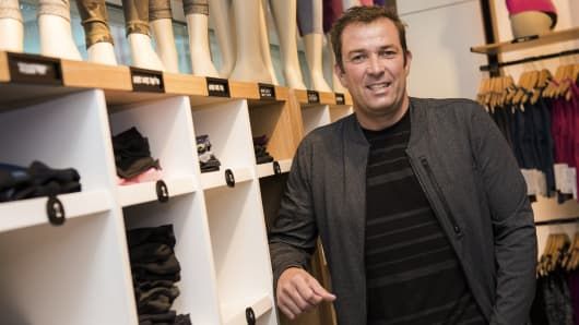 Laurent Potdevin, chief executive officer of Lululemon Athletica