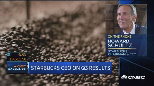 Starbucks' Schultz: This quarter was an anomaly