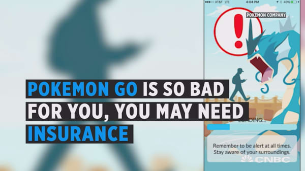Pokemon Go accident insurance