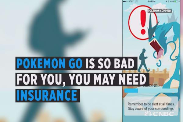 Pokemon Go accident insurance