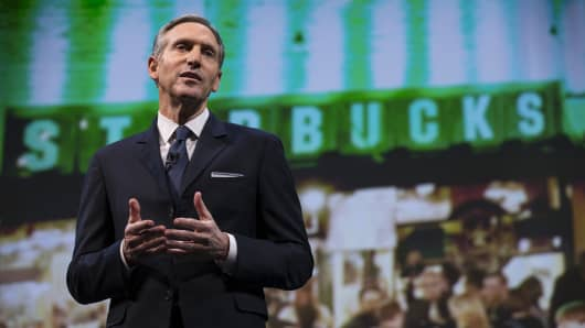 Starbucks Chairman and CEO Howard Schultz.