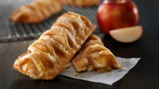 McDonald's tests out new apple pie