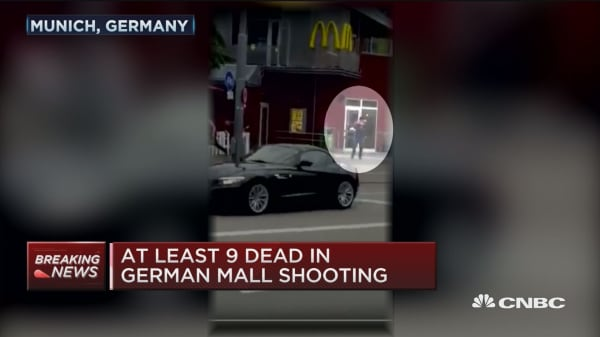 At least 9 dead in German mall shooting