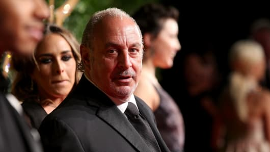Sir Philip Green attends the British Fashion Awards 2015 at London Coliseum on November 23, 2015 in London, England.