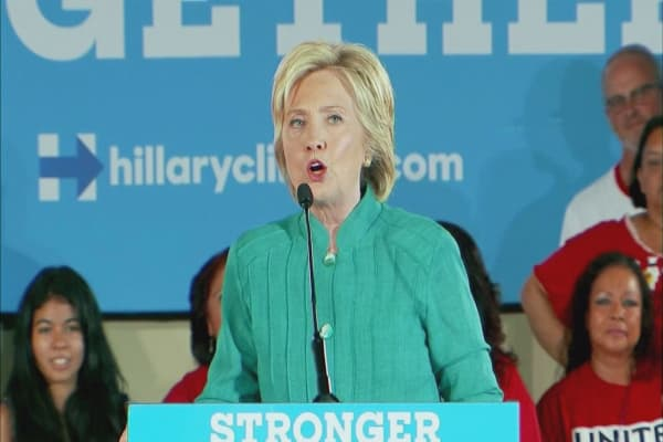 Hillary Clinton responds to 'lock her up' chants