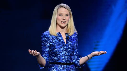 Yahoo! President and CEO Marissa Mayer.