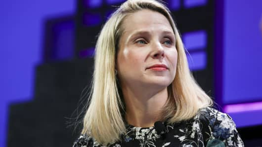 Marissa Mayer, President and CEO of Yahoo.