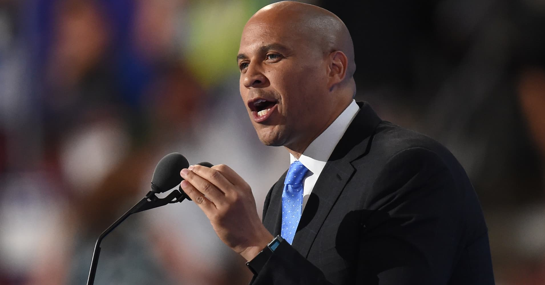 Dem Rising Star Cory Booker Delivers Emotional Speech