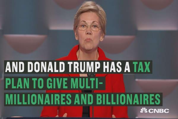 Warren: Donald Trump thinks he needs a million dollar tax break