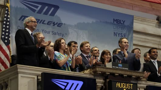 Mobileye founders ring the bell at the NYSE