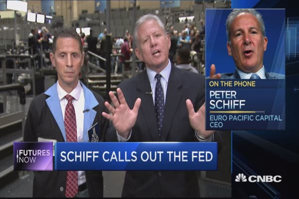 Peter Schiff sounds off on the Fed