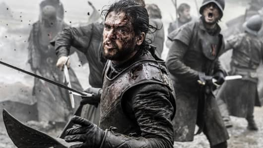 "Kit Harington as Jon Snow featured in the ""Game of Thrones"" season 6, episode 9"