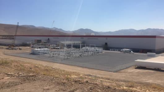 The Tesla Gigafactory in Nevada on July 26th, 2016.