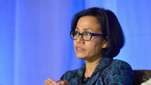 World Bank Managing Director Sri Mulyani Indrawati speaks at Wellesley College on January 31, 2016.